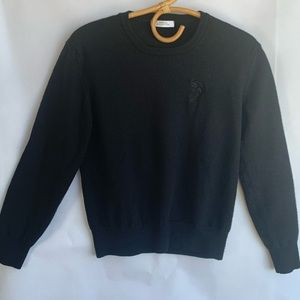 VERSACE Black Sweater Size M -Tight fit